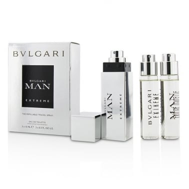 Bvlgari Man Extreme Man 3 x 15ml EDT Refillable Travel Spray