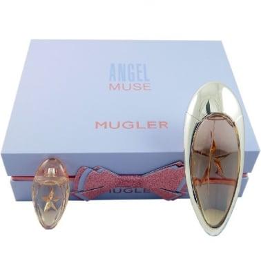 Thierry Mugler Angel Muse - 50ml Refillable Eau De Parfum Gift Set With Miniature