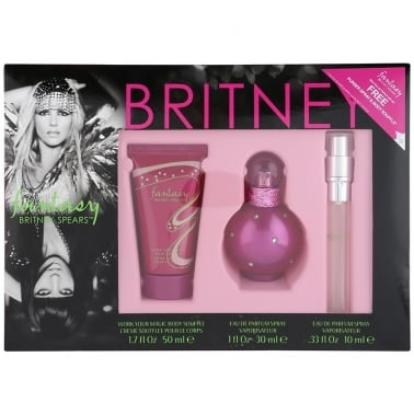 Britney Spears Fantasy - 30ml EDP Gift Set With Body Lotion and 10ml Purse Spray