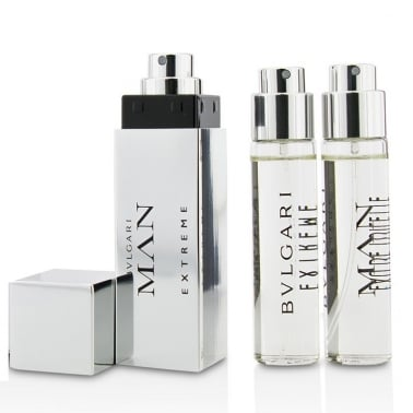 Bulgari Man Extreme - 3 x 15ml Refillable Travel Sprays