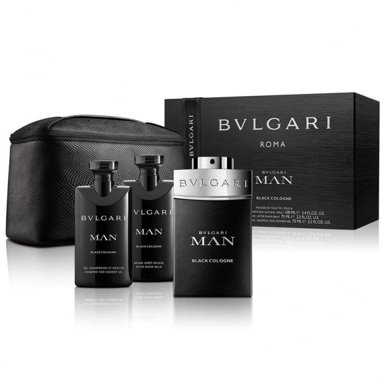 Bvlgari Man Black Cologne Gift Set - 100ml Eau De Toilette With Aftershave  Balm, ... a34f7241ec