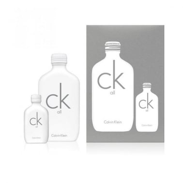 Calvin Klein CK All For Men and Women - 100ml Gift Set With 100ml Eau De Toilette Spray, CK One 15ml Mini.