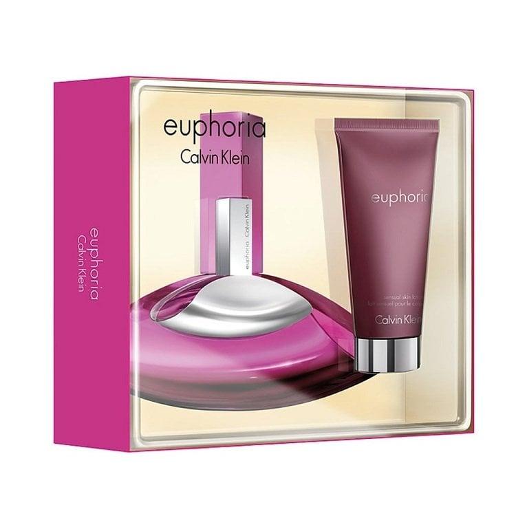 Calvin Klein Euphoria 50ml Eau De Parfum Spray And 100ml Body