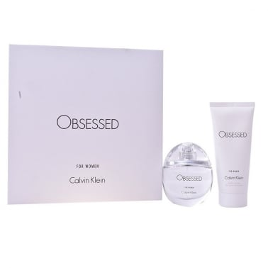 Calvin Klein Obsessed For Her - Gift Set With 50ml Eau De Parfum Spray and 100ml Body Lotion.