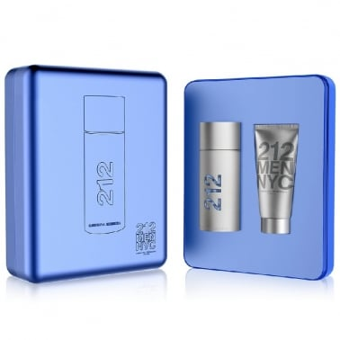 Carolina Herrera 212 Men Gift Set - 50ml Eau De Toilette With Shower Gel.