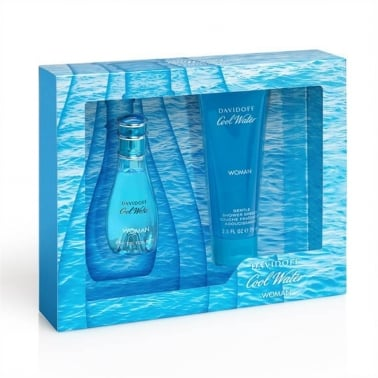 Davidoff Cool Water For Woman - 30ml EDT Gift Set With 75ml Shower Gel.