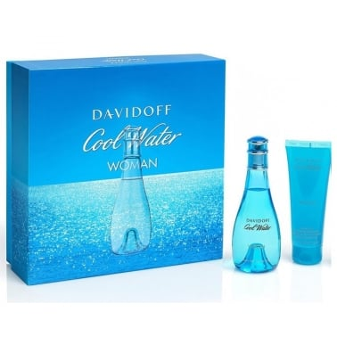 Davidoff Cool Water For Woman - 50ml EDT Gift Set With 75ml Body Lotion.