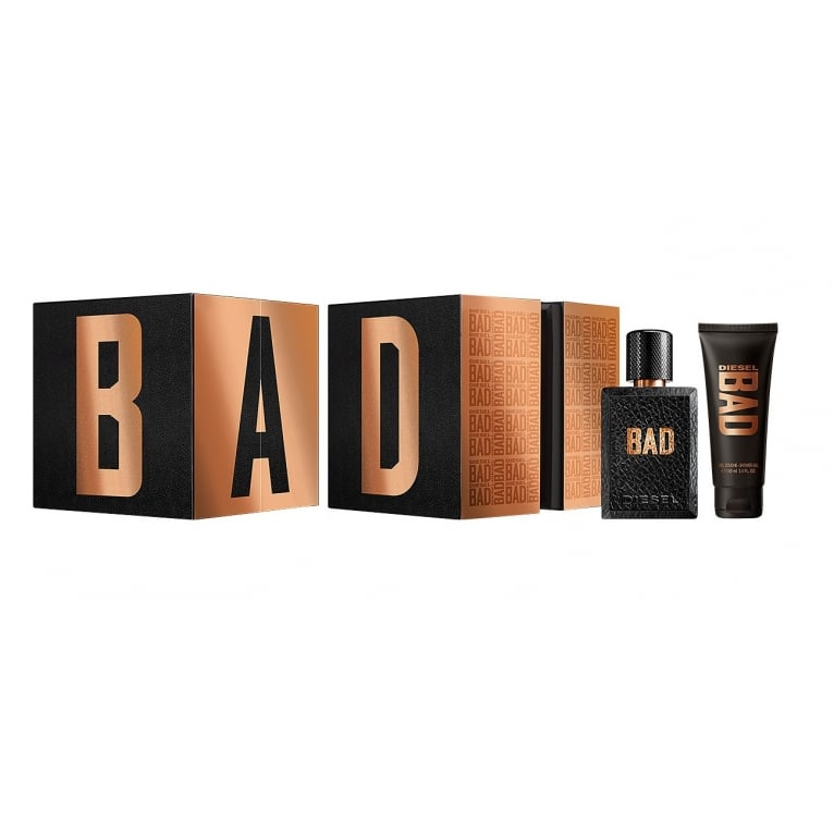 Diesel BAD Pour Homme - 50ml EDT Gift Set With 100ml Shower Gel.