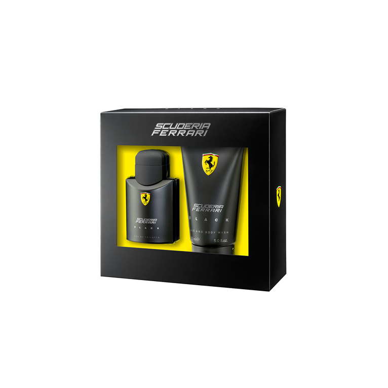 Ferrari Scuderia Black 75ml Eau De Toilette and 150ml Hair and Body Wash,