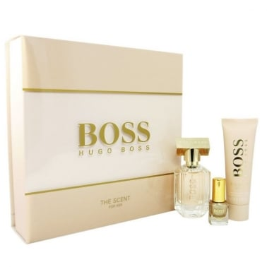 Hugo Boss Boss The Scent For Her Gift Set - 30ml Eau De Parfum with Body Lotion & Nail polish.
