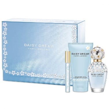 Marc Jacobs Daisy Dream - 100ml EDT Gift Set With 150ml Body Lotion and 10ml EDT Mini Spray