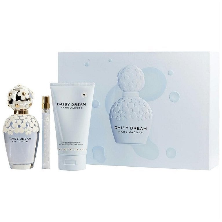 6d5e42907031 Marc Jacobs Daisy Dream - 100ml EDT Gift Set With 150ml Body Lotion and  10ml Mini Eau ...