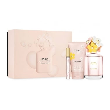 Marc Jacobs Daisy Eau So Fresh - Gift Set With 125ml Eau De Toilette With Body Lotion & 10ml Mini.
