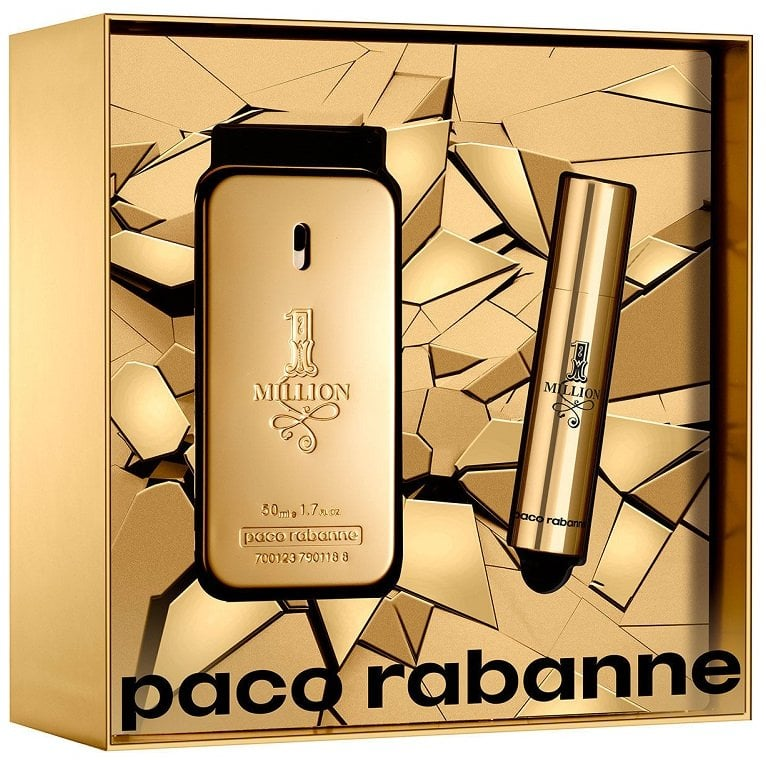 deffcb896d139 Paco Rabanne 1 Million - 50ml EDT Gift Set With 10ml Travel Spray