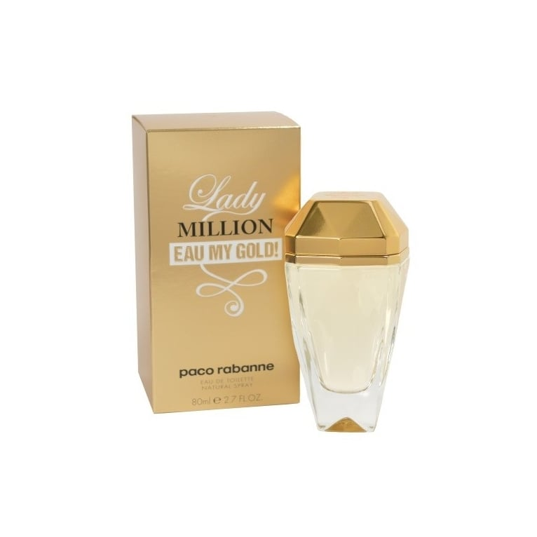 Paco Rabanne Lady Million Eau My Gold - 80ml Eau De Toilette Spray.