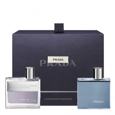 Prada Amber Pour Homme - 50ml EDT Gift Set With 100ml Shower Gel.