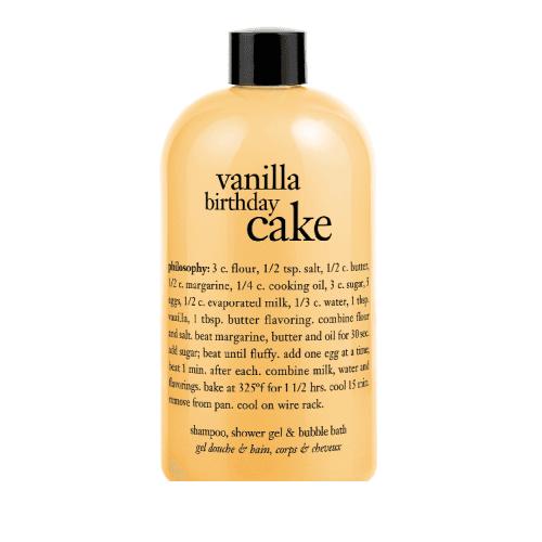 "Femmina | ""Philosophy Vanilla Birthday Cake - 480ml Shampoo,Shower Gel and Bubble Bath."""