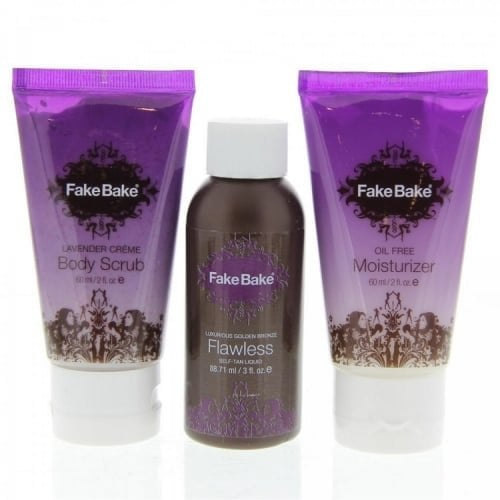 "Femmina | ""Fake Bake Flawless Tanning  3 piece set - Flawless 3 oz, Lavender Scrub 2 oz and Oil Free Moisturizer 2 oz"""