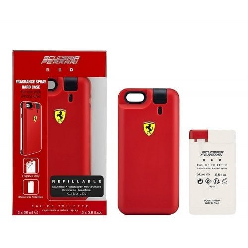 "Femmina   ""Ferrari Red Gift Set - 25ml x 2 Eau De Toilette Spray With IPhone 6 Case"""