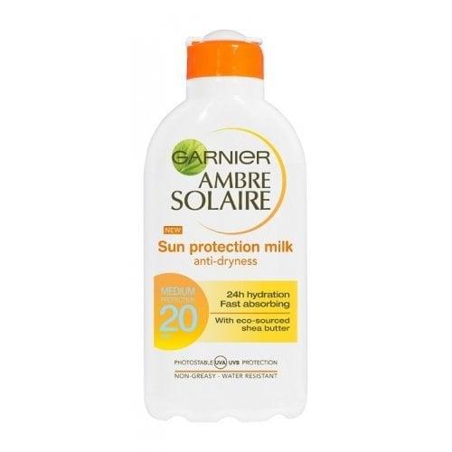 "Femmina | ""Garnier Ambre Solaire Sun Protection Milk Anti-Dryness Medium Protection SPF20 200ml Lotion"""