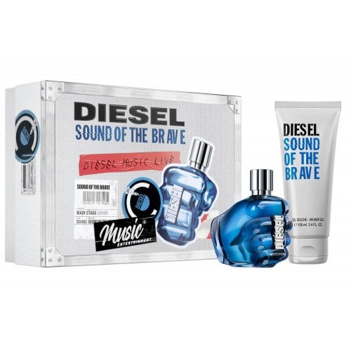 Diesel Sound of the Brave 2021 - Gift Set With 50ml EDT Spray and 100ml Shower Gel