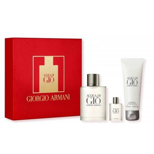 Giorgio Armani Acqua Di Gio Homme 2021 - Gift Set With 50ml EDT Spray, 5ml Miniature and 75ml Body S