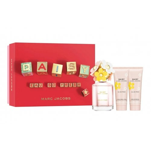 Marc Jacobs Daisy Eau So Fresh 2021 - Gift Set With 75ml EDT Spray, 75ml Body Lotion and 75ml Shower