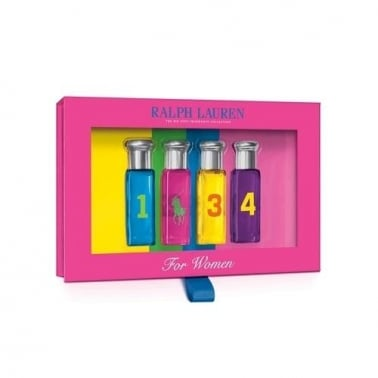 Ralph Lauren Big Pony Miniature Set For Women - 4 x 10ml, Blue, Pink, Yellow,