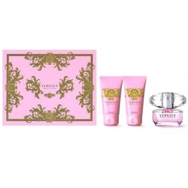 Versace Bright Crystal - 50ml EDT Spray, 50ml Body Lotion and 50ml Shower gel.