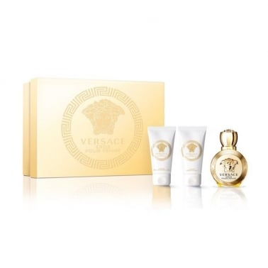 Versace Eros Pour Femme - 50ml EDP Gift Set With 50ml Body Lotion & Shower gel.