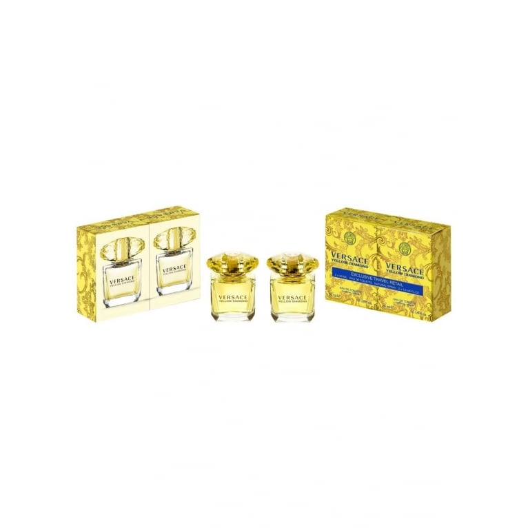 Versace Yellow Diamond Duo Pack 2 x 30ml Eau De Toilette Spray.