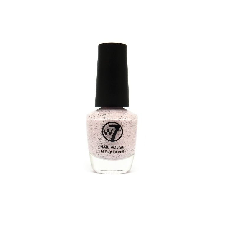 W7 Cosmetics Nail Polish - 88 Speckled Pink.