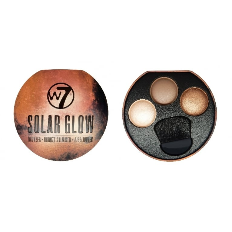 W7 Cosmetics Solar Glow Bronzer, Shimmer, Highlighter All In One!
